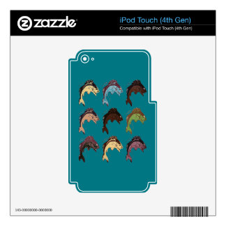 Pescados iPod Touch 4G Calcomanía