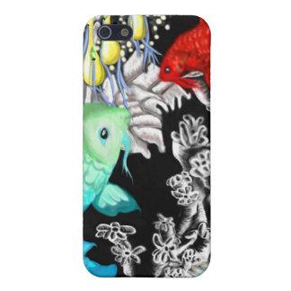 Pescados japoneses iPhone 5 cárcasas