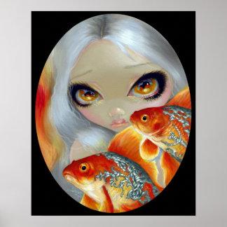 Pescados Jeweled Goldfish de la IMPRESIÓN del AR Poster