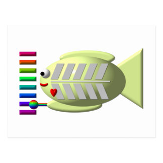 Pescados lindos de la radiografía que tocan el postal