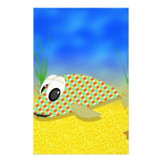 Pescados lindos del dibujo animado papelería personalizada