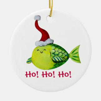 Pescados lindos del navidad ornamento para arbol de navidad