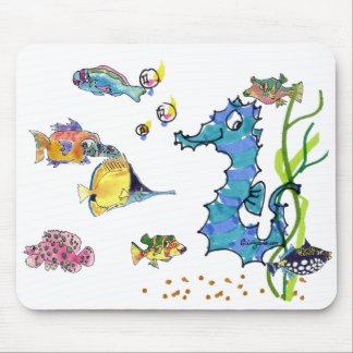 Pescados lindos Mousepads del dibujo animado del S
