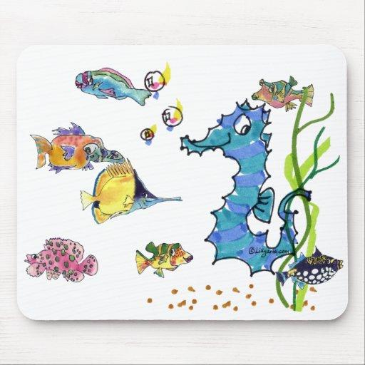 Pescados lindos Mousepads del dibujo animado del S Tapete De Ratón