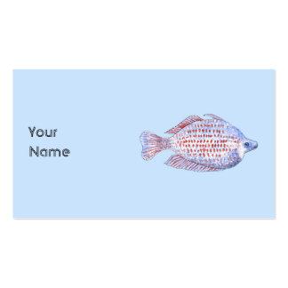 Pescados. Línea roja Rainbowfish. Tarjetas De Visita