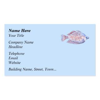 Pescados. Línea roja Rainbowfish. Plantillas De Tarjeta De Negocio