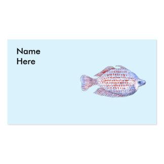 Pescados. Línea roja Rainbowfish. Plantilla De Tarjeta De Negocio