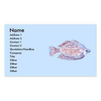 Pescados. Línea roja Rainbowfish. Tarjeta De Visita