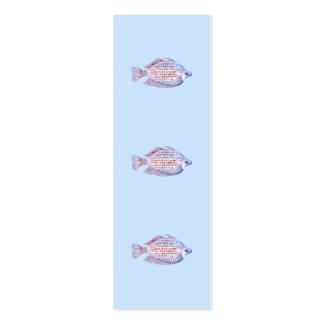 Pescados. Línea roja Rainbowfish. Plantillas De Tarjetas Personales