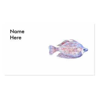 Pescados. Línea roja Rainbowfish. Tarjeta Personal