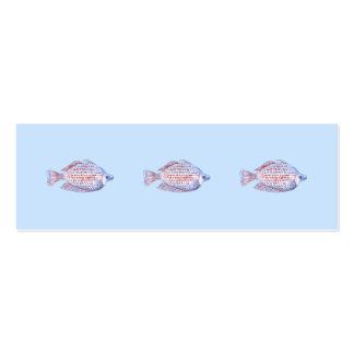Pescados. Línea roja Rainbowfish. Plantilla De Tarjeta De Visita