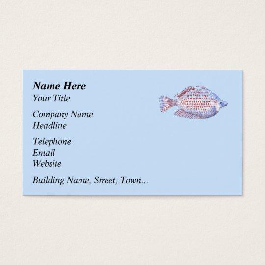 Pescados. Línea roja Rainbowfish. Tarjeta De Negocios