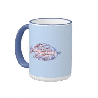 Pescados. Línea roja Rainbowfish. Tazas