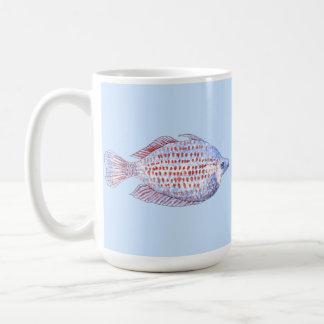 Pescados. Línea roja Rainbowfish. Taza De Café