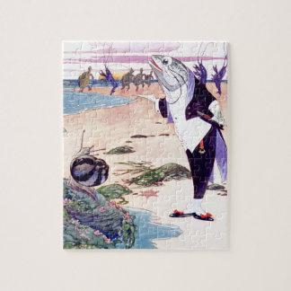 Pescados Maitre'D en la contradanza de la langosta Puzzles Con Fotos