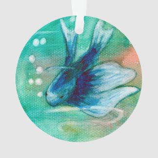 Pescados manchados de tinta azules de Betta
