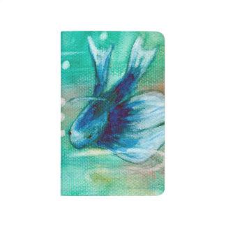 Pescados manchados de tinta azules de Betta Cuaderno