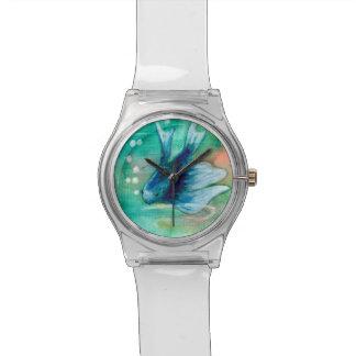 Pescados manchados de tinta azules de Betta Relojes De Mano