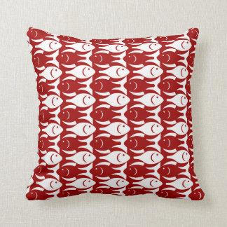 Pescados modernos de los mediados de siglo, rojo almohadas