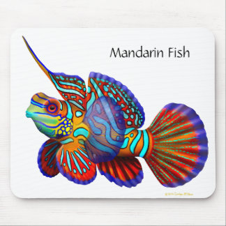 Pescados Mousepad de Dragonet del gobio del mandar Tapete De Ratón