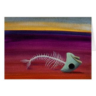 Pescados muertos tarjeta de felicitación