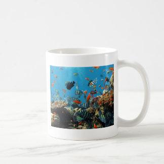 Pescados Naturescape del arrecife de coral Taza De Café