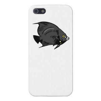 Pescados negros del ángel iPhone 5 funda