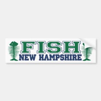 Pescados New Hampshire Pegatina Para Auto