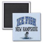 Pescados New Hampshire del hielo Imán De Frigorífico