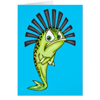 Pescados obstinados tarjeta pequeña