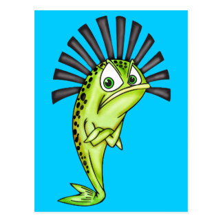 Pescados obstinados tarjeta postal