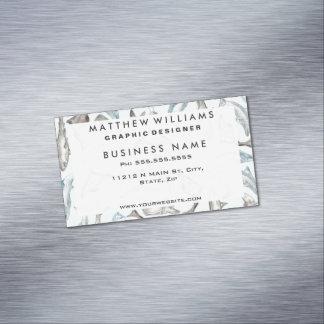 Pescados oceánicos de la acuarela en el gris tarjetas de visita magnéticas (paquete de 25)