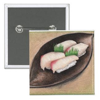 Pescados pálidos, botón de la placa de Brown Pin Cuadrado