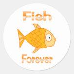 Pescados para siempre pegatinas
