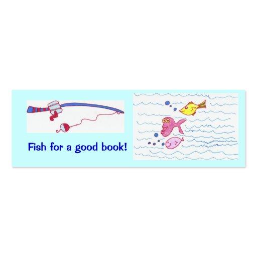 ¡Pescados para un buen libro! Plantilla De Tarjeta Personal