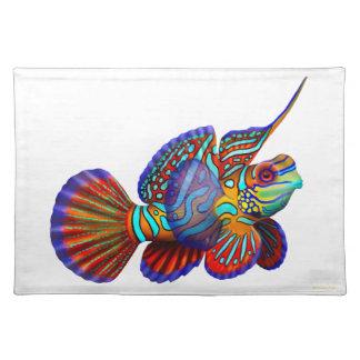 Pescados Placemats del gobio de Dragonet del manda Manteles Individuales