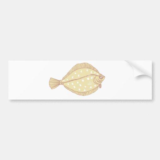 pescados planos pegatina para auto