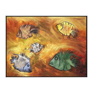 Pescados por el rafi talby impresion de lienzo