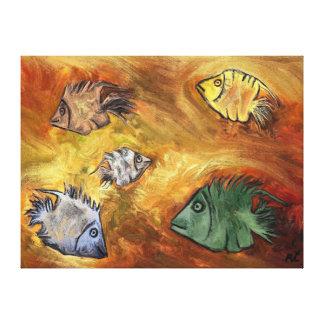 Pescados por el rafi talby impresión en lienzo estirada