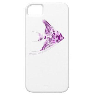 Pescados púrpuras del ángel iPhone 5 Case-Mate funda