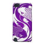 Pescados púrpuras y blancos de Yin Yang Koi