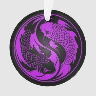 Pescados púrpuras y negros de Yin Yang Koi