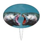 Pescados que gritan en uno a en un partido gritado figura para tarta