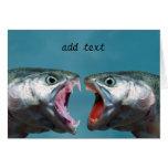 Pescados que gritan en uno a en un partido gritado felicitaciones