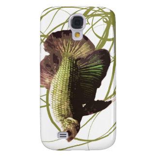 Pescados que luchan siameses de Betta del oro Carcasa Para Galaxy S4