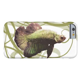 Pescados que luchan siameses de Betta del oro Funda Barely There iPhone 6