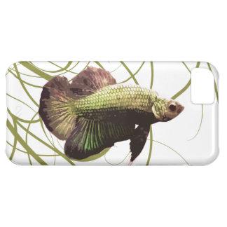 Pescados que luchan siameses de Betta del oro Funda iPhone 5C
