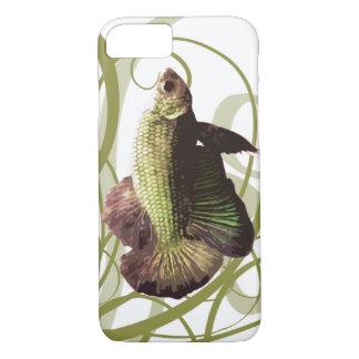 Pescados que luchan siameses de Betta del oro Funda iPhone 7