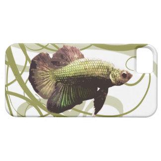 Pescados que luchan siameses de Betta del oro Funda Para iPhone SE/5/5s