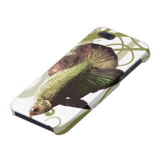 Pescados que luchan siameses de Betta del oro iPhone 5 Fundas